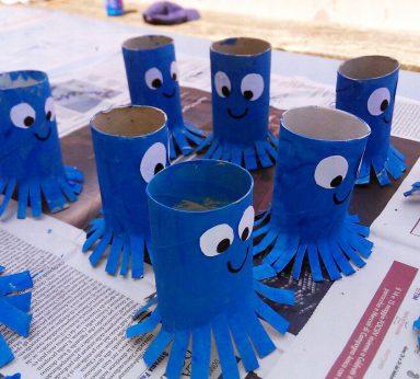 laboratorio sul riuso creativo con i rotoli di carta